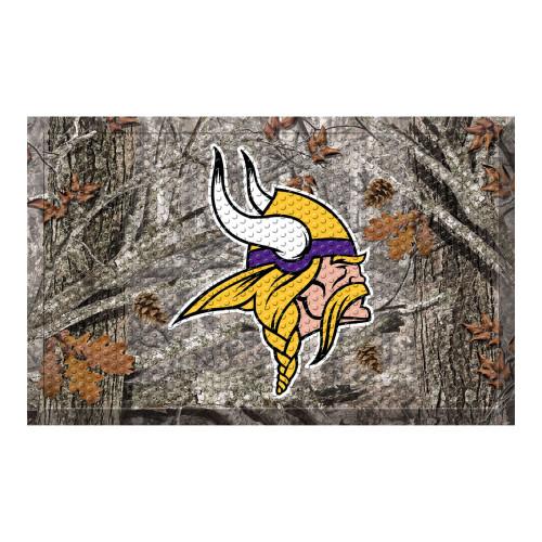 "19"" x 30"" Gray and Yellow NFL Minnesota Vikings Shoe Scraper Door Mat - IMAGE 1"