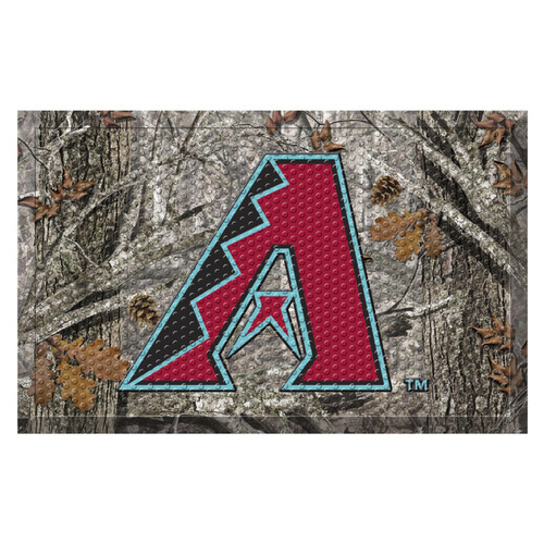 "Red and Gray MLB Arizona Diamondbacks Shoe Scraper Doormat 19"" x 30"" - IMAGE 1"