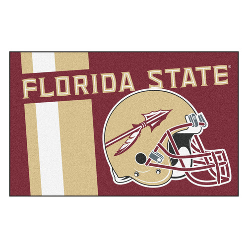 "19"" x 30"" Beige and White NCAA Seminoles Starter Mat Rectangular Area Rug - IMAGE 1"