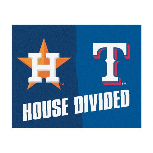 "33.75"" x 42.5"" Orange and Pink MLB ""House Divided"" Non-Skid Mat Rectangular Area Rug - IMAGE 1"