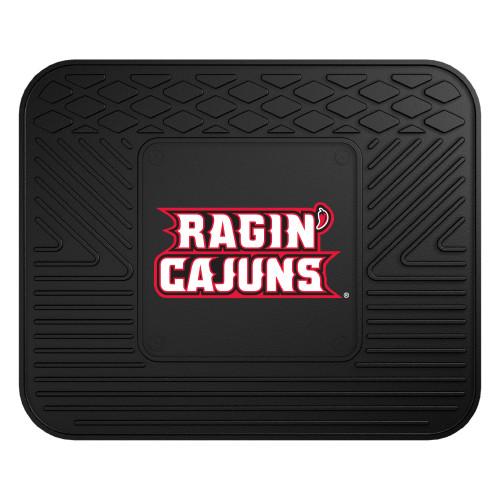 "14"" x 17"" Black and Red NCAA University of Louisiana-Lafayette Ragin Cajuns Rear Car Seat Mat - IMAGE 1"