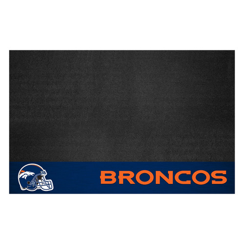 "26"" x 42"" Black and Orange NFL Denver Broncos Grill Mat Tailgate Accessory - IMAGE 1"
