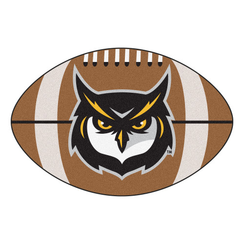 """20.5"""" x 32.5"""" Brown and White NCAA Kennesaw State University Owls Football Mat - IMAGE 1"""