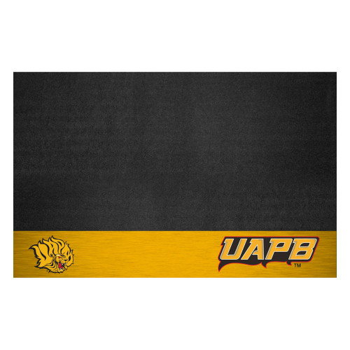 "26"" x 42"" Gold and Black NCAA Bluff Lions Grill Mat Tailgate Accessory - IMAGE 1"