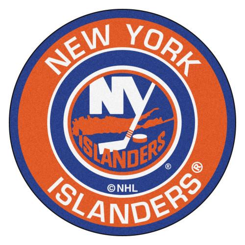 "27"" Blue and Orange NHL New York Islanders Rounded Door Mat - IMAGE 1"