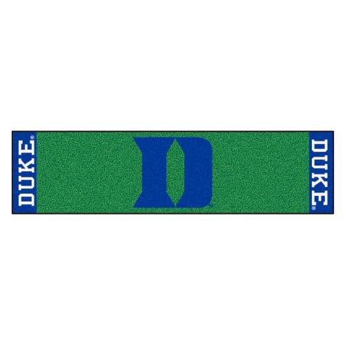 "18"" x 72"" Green and Blue NCAA Duke University Blue Devils Mat Golf Accessory - IMAGE 1"
