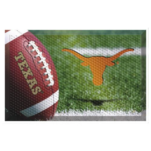 "19"" x 30"" Brown and Green NCAA University of Texas Longhorns Doormat - IMAGE 1"