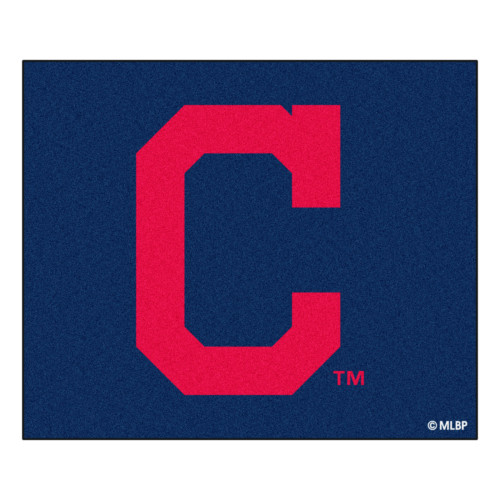 """59.5"""" x 71"""" Blue and Red MLB Cleveland Indians Tailgater Mat Rectangular Outdoor Area Rug - IMAGE 1"""