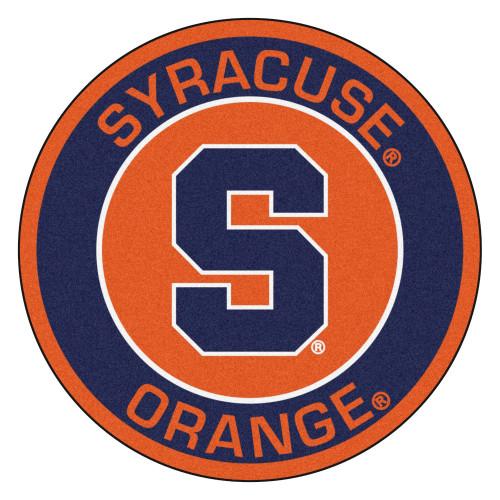 """27"""" Orange and Blue NCAA Syracuse University Orange Rounded Door Mat - IMAGE 1"""