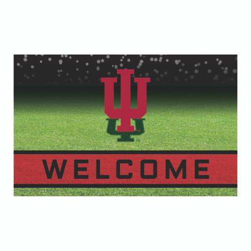 """18"""" x 30"""" Green and Red NCAA Indiana University Hoosiers Door Mat - IMAGE 1"""