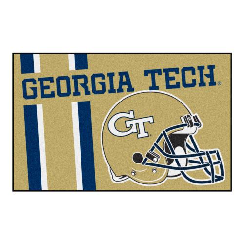 "19"" x 30"" Blue and Brown NCAA Ramblin Wreck Starter Mat Rectangular Area Rug - IMAGE 1"