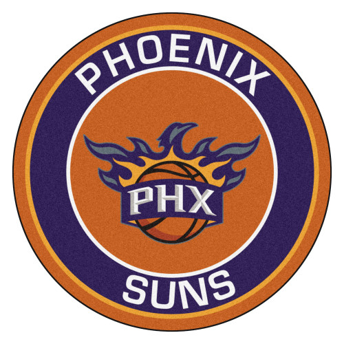 """27"""" Blue and Brown NBA Phoenix Suns Rounded Door Mat - IMAGE 1"""