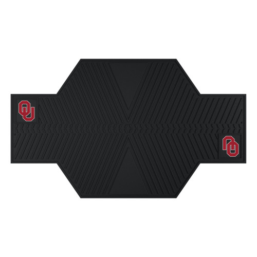 """42' x 82.5"""" Black and Red NCAA University of Oklahoma Sooners Motorcycle Mat Accessory - IMAGE 1"""