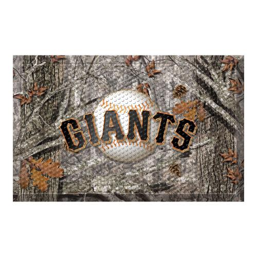 "Black and Gray MLB San Francisco Giants Shoe Scraper Doormat 19"" x 30"" - IMAGE 1"