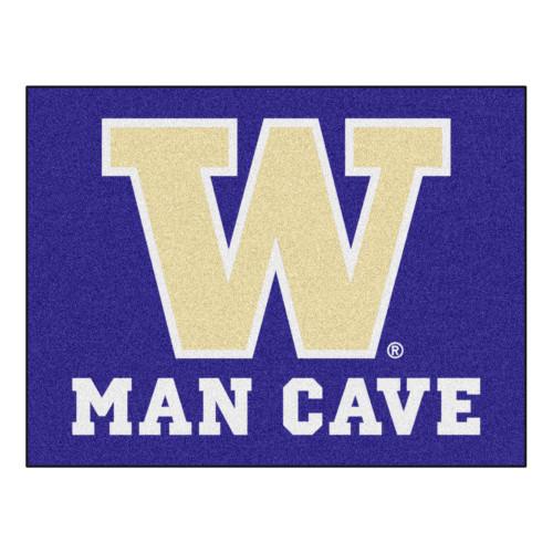 "33.75"" x 4 2.5"" Purple and White NCAA University of Washington Huskies Man Cave All-Star Door Mat - IMAGE 1"