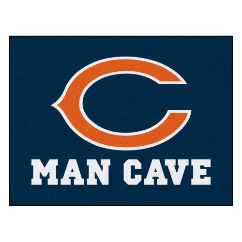 "33.75"" x 42.5"" Blue and Orange NFL Chicago Bears ""Man Cave"" Door Mat - IMAGE 1"