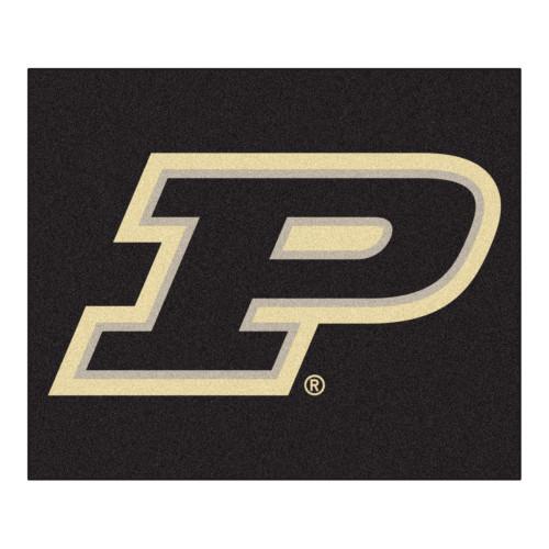 "59.5"" x 71"" Black NCAA Purdue University Boilermakers Tailgater Mat Outdoor Area Rug - IMAGE 1"