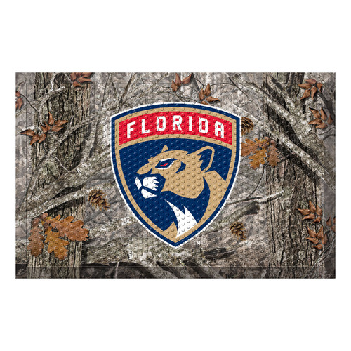 "19"" x 30"" Black and Navy Blue NHL Florida Panthers Shoe Scraper Doormat - IMAGE 1"
