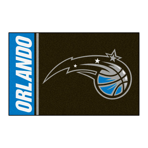 """19"""" x 30"""" Brown and Blue NBA Orlando Magic Rectangular Starter Mat - IMAGE 1"""