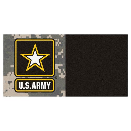 U.S. Army Team Carpet Tile Flooring Squares, 20-PC Set - IMAGE 1