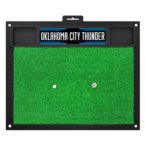 "20"" x 17"" Black and Green NBA Oklahoma City Thunder Golf Hitting Mat - IMAGE 1"