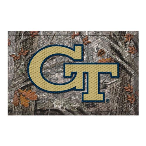 """Gray and Gold NCAA Georgia Tech Yellow Jackets Shoe Scraper Doormat 19"""" x 30"""" - IMAGE 1"""