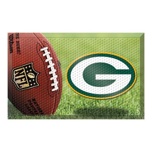 """19"""" x 30"""" Brown and Green NFL Green Bay Packers Shoe Scraper Door Mat - IMAGE 1"""