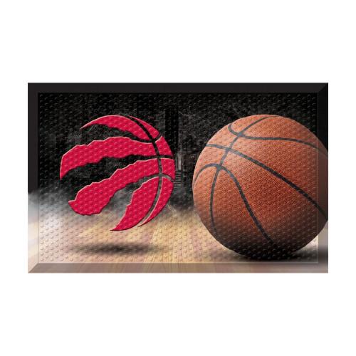 """19"""" x 30"""" Brown and Red NBA Toronto Raptors Shoe Scraper Doormat - IMAGE 1"""