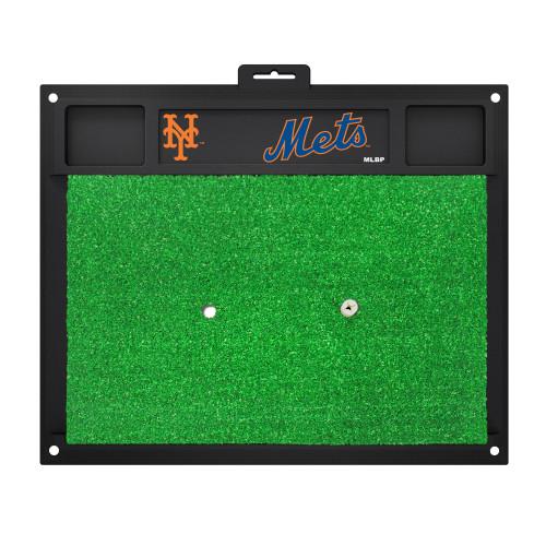 "20"" x 17"" Black and Green MLB New York Mets Golf Hitting Mat - IMAGE 1"