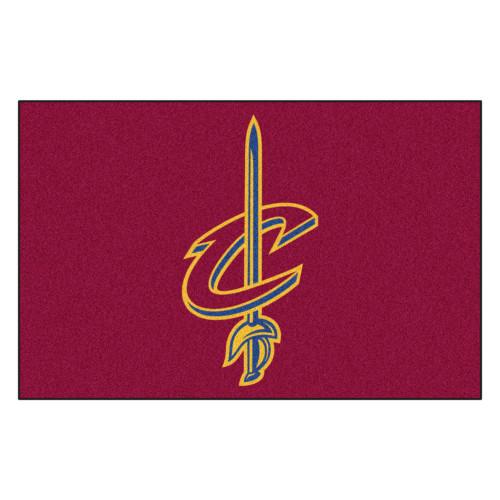 "19"" x 30"" Red and Yellow NBA Cleveland Cavaliers Starter Door Mat - IMAGE 1"