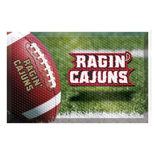 """19"""" x 30"""" Green and Brown NCAA University of Louisiana-Lafayette Ragin' Cajuns Shoe Scraper Door Mat - IMAGE 1"""