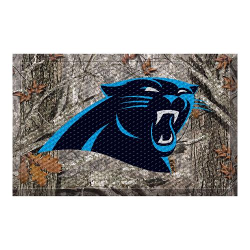 """19"""" x 30"""" Gray and Blue NFL Carolina Panthers Shoe Scraper Door Mat - IMAGE 1"""