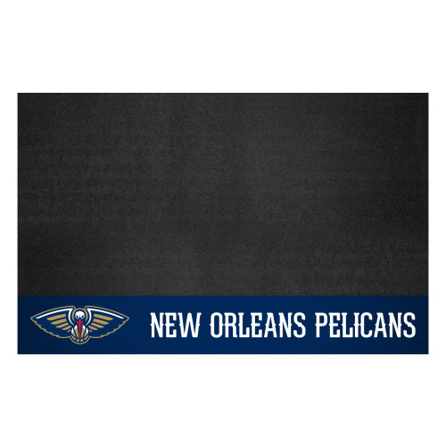 """26"""" x 42"""" Black NBA New Orleans Pelicans Grill Outdoor Tailgate Mat - IMAGE 1"""