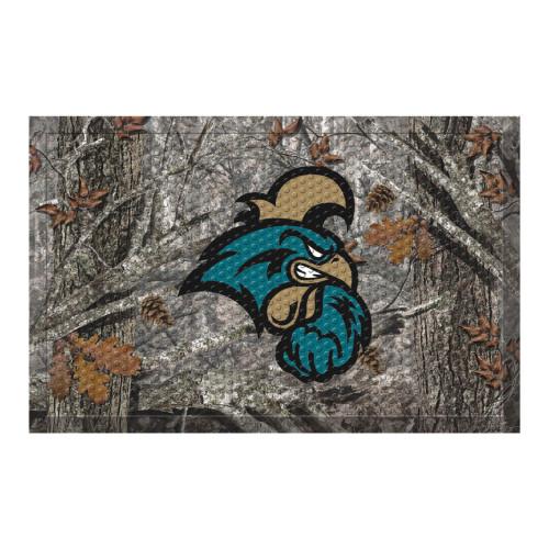 "19"" x 30"" Brown and White NCAA Coastal Carolina Chanticleers Shoe Scraper Door Mat - IMAGE 1"