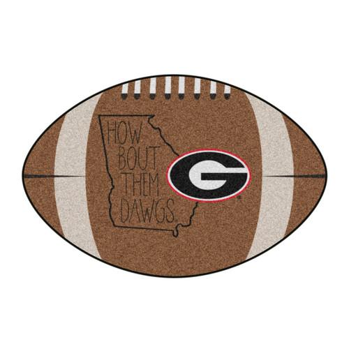 "20.5"" x 32.5"" Brown and White NCAA University of Georgia Bulldogs Mat Area Rug - IMAGE 1"