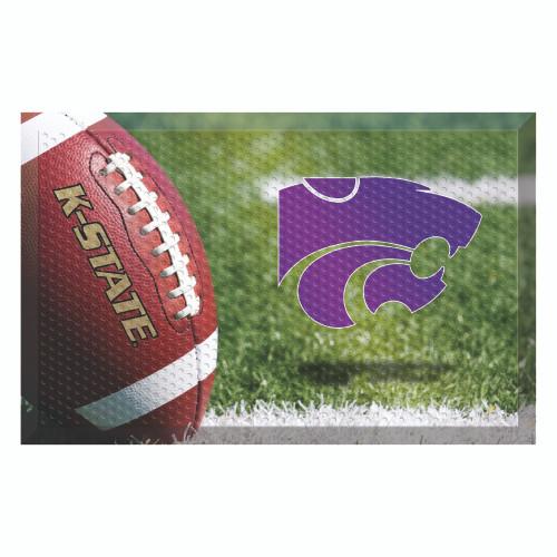 """Red and Purple NCAA Kansas State University Wildcats Shoe Scraper Doormat 19"""" x 30"""" - IMAGE 1"""