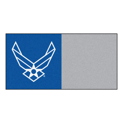 """20pc Blue and Gray US Air Force Carpet Tile Flooring Squares 18"""" x 18"""" - IMAGE 1"""