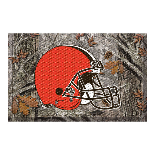 """19"""" x 30"""" Gray and Orange NFL Cleveland Browns Shoe Scraper Door Mat - IMAGE 1"""