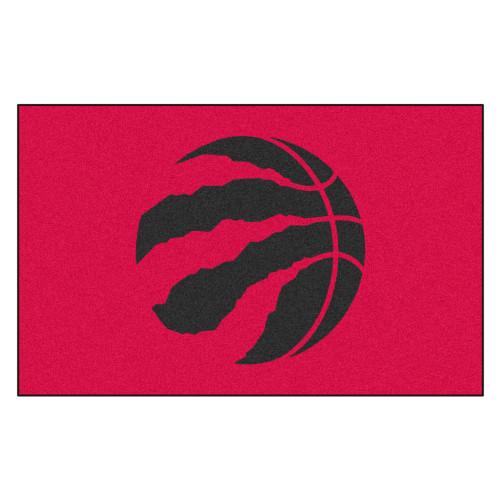 "59.5"" x 94.5"" Red and Black NBA Toronto Raptors Ulti-Mat Rectangular Outdoor Area Rug - IMAGE 1"