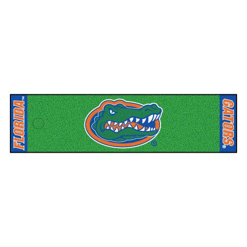 "18"" x 72"" Green and Orange NCAA University of Florida Gators Golf Putting Mat - IMAGE 1"