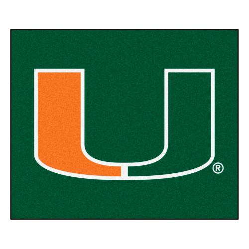 "59.5"" x 71"" Orange NCAA University of Miami Hurricanes Tailgater Outdoor Mat - IMAGE 1"
