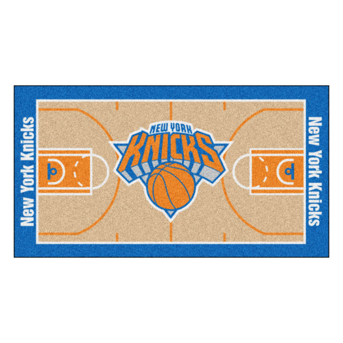 "24"" x 44"" Beige and Orange NBA New York Knicks Court Rug Runner - IMAGE 1"