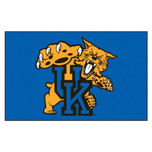 "59.5"" x 94.5"" Blue and White NCAA University of Kentucky Wildcats Ulti-Mat - IMAGE 1"