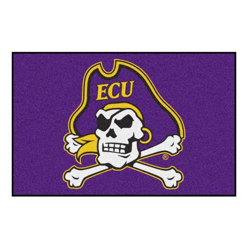 """19"""" x 30 """" Purple NCAA East Carolina University Pirates Rectangular Door Mat - IMAGE 1"""