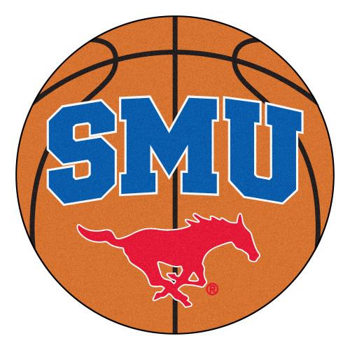 "27"" Orange and Blue NCAA Southern Methodist University Mustangs Basketball Mat - IMAGE 1"