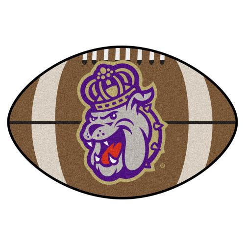 "20.5"" x 32.5"" Brown and Purple NCAA James Madison University Dukes Football Mat Area Rug - IMAGE 1"