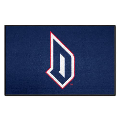 "19"" x 30"" Blue and White NCAA Duquesne University Dukes Rectangular Starter Mat - IMAGE 1"