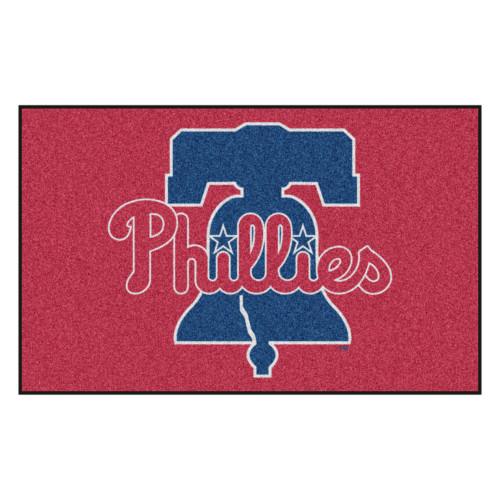 "59.5"" x 94.5"" Red and Blue MLB Philadelphia Phillies Ulti-Mat Rectangular Outdoor Area Rug - IMAGE 1"