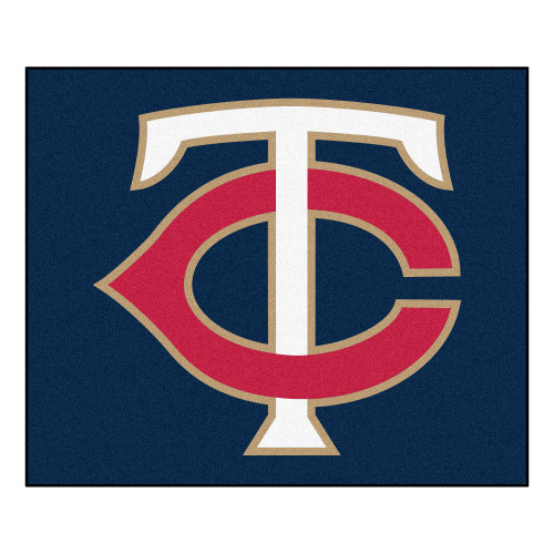"""59.5"""" x 71"""" Blue and Red MLB Minnesota Twins Tailgater Mat Outdoor Area Rug - IMAGE 1"""