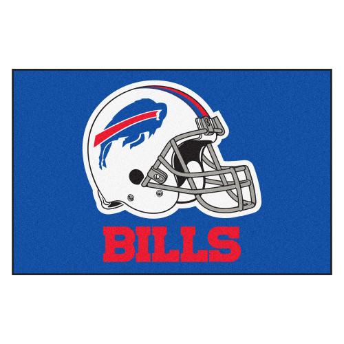"""19"""" x 30"""" Blue and White NFL Buffalo Bills Starter Rectangular Door Mat - IMAGE 1"""